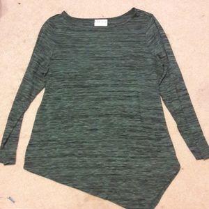 Ava & viv asymmetrical green top